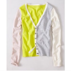 Anthropologie Lateral Neon Cardigan size S